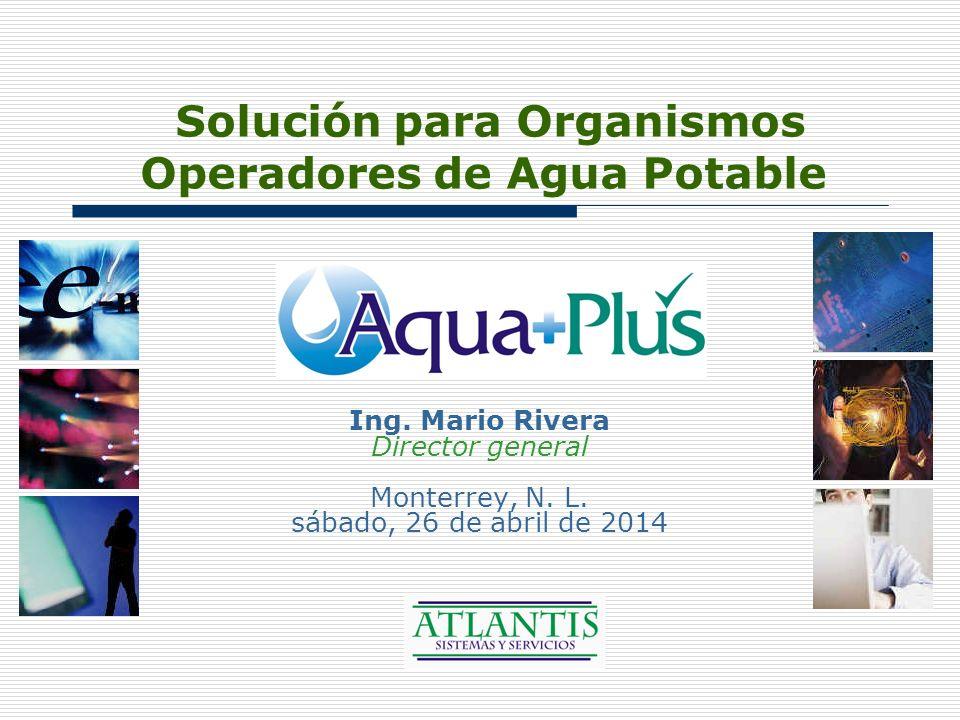Solución para Organismos Operadores de Agua Potable