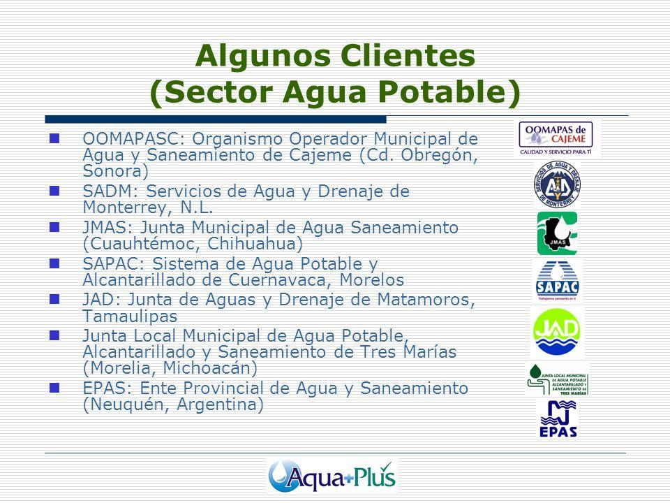 Algunos Clientes (Sector Agua Potable)