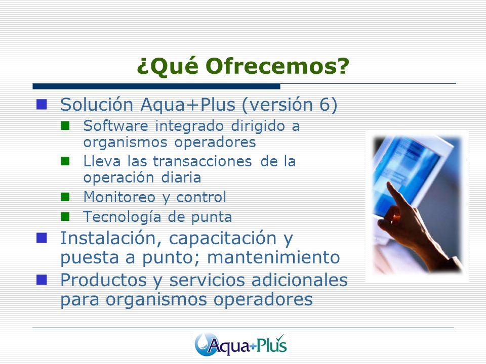¿Qué Ofrecemos Solución Aqua+Plus (versión 6)