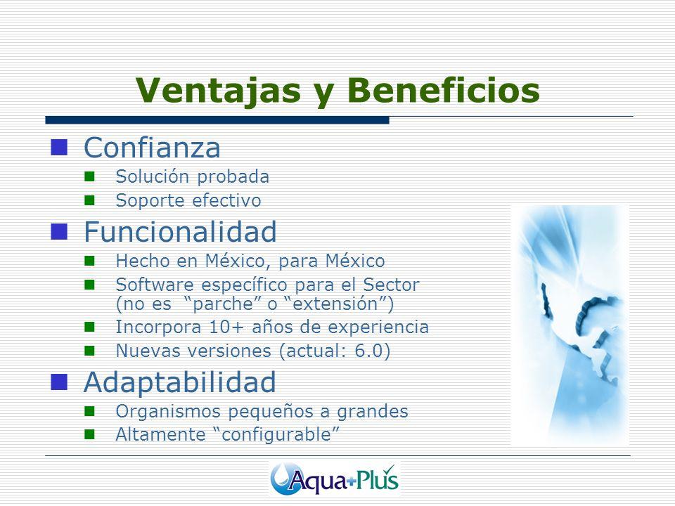 Ventajas y Beneficios Confianza Funcionalidad Adaptabilidad