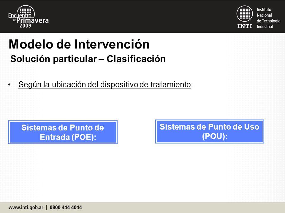 Sistemas de Punto de Entrada (POE): Sistemas de Punto de Uso (POU):