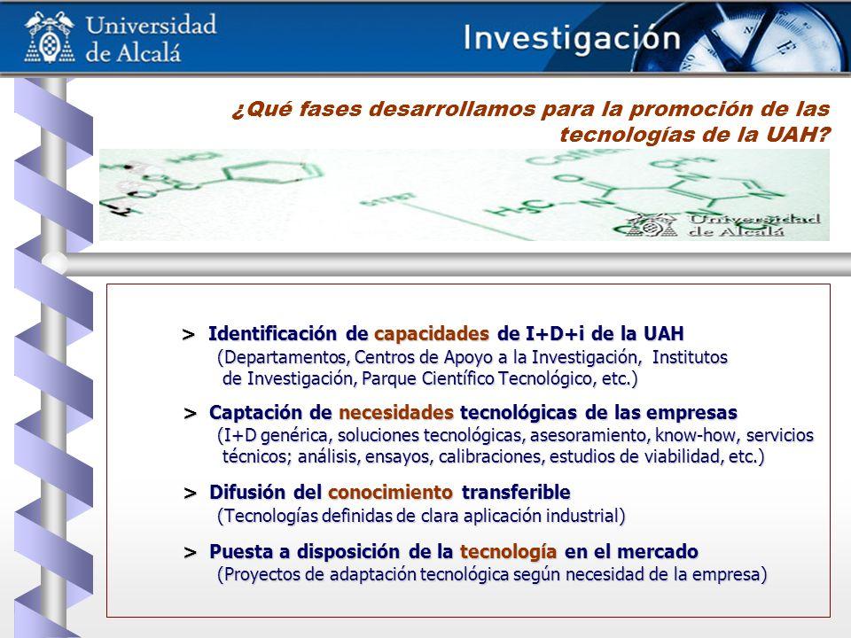 ¿Qué fases desarrollamos para la promoción de las tecnologías de la UAH