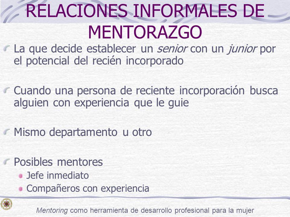 RELACIONES INFORMALES DE MENTORAZGO