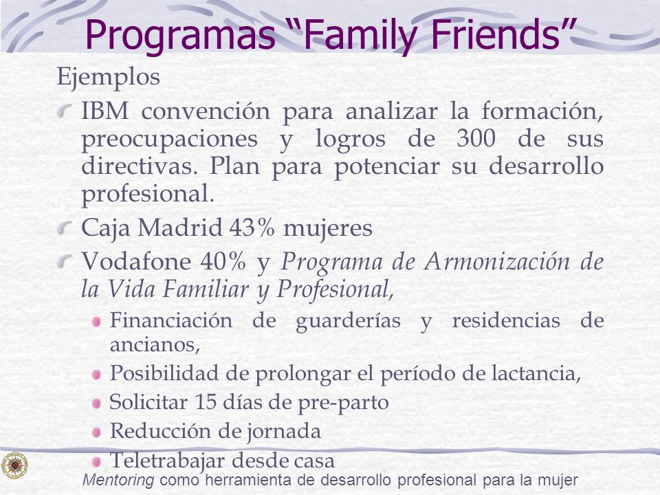 Programas Family Friends