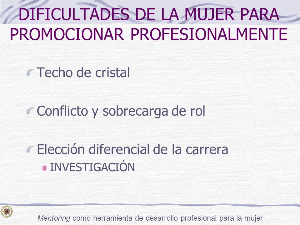 DIFICULTADES DE LA MUJER PARA PROMOCIONAR PROFESIONALMENTE