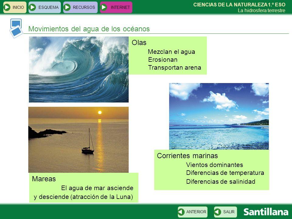Movimientos del agua de los océanos