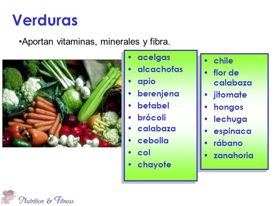 Verduras Aportan vitaminas, minerales y fibra. acelgas chile