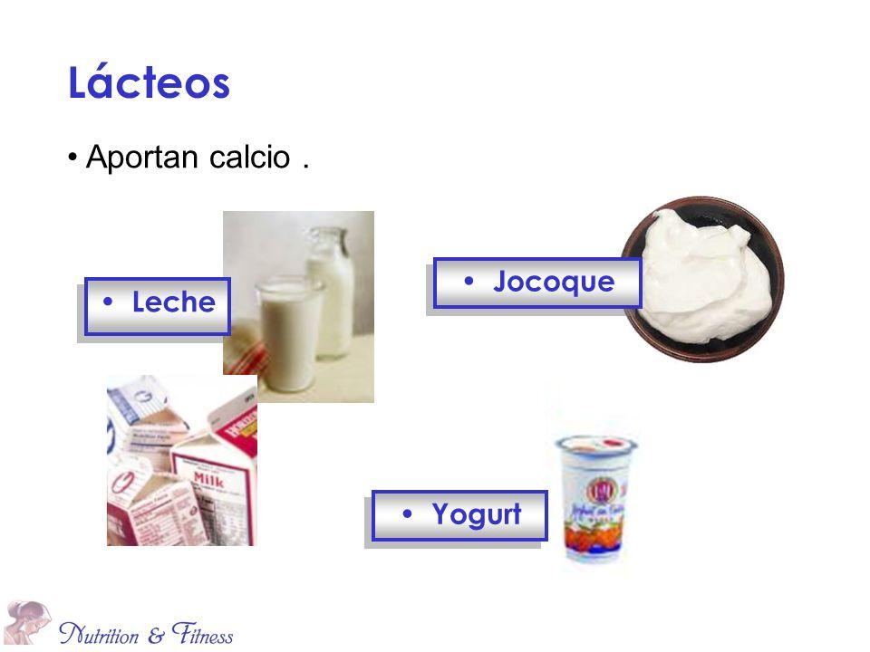 Lácteos Aportan calcio . Jocoque Leche Yogurt