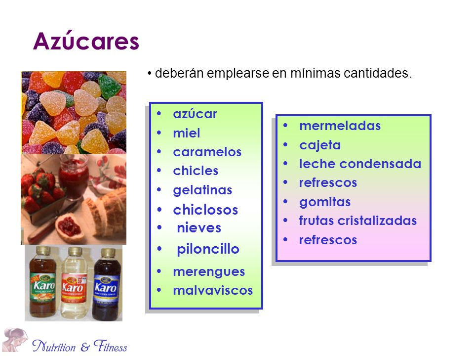 Azúcares chiclosos nieves piloncillo
