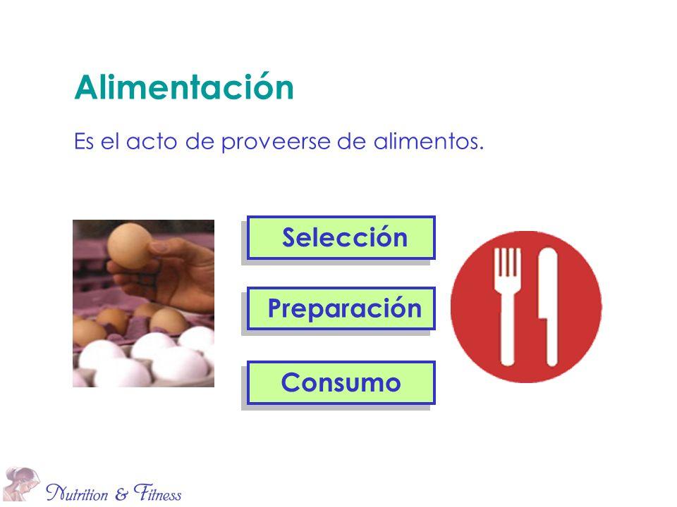 Alimentación Es el acto de proveerse de alimentos.