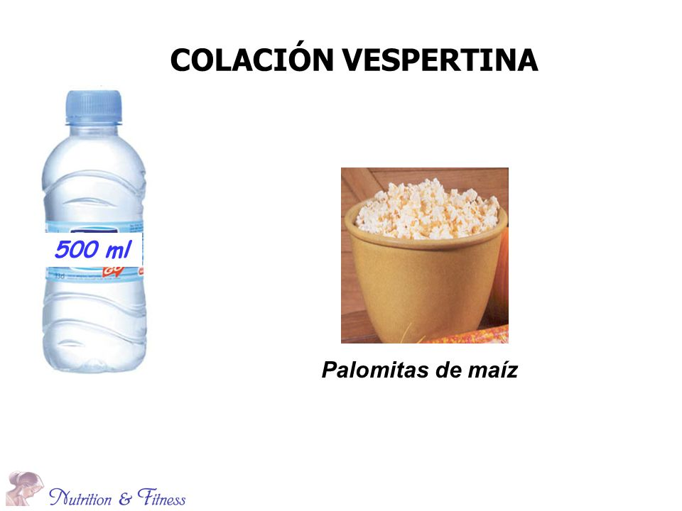 COLACIÓN VESPERTINA 500 ml Palomitas de maíz