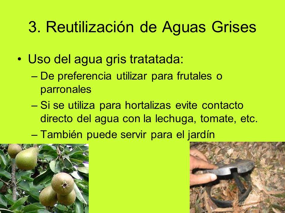 3. Reutilización de Aguas Grises