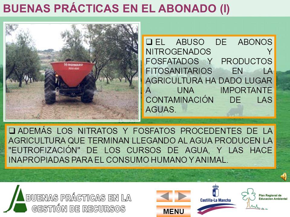 BUENAS PRÁCTICAS EN EL ABONADO (I)