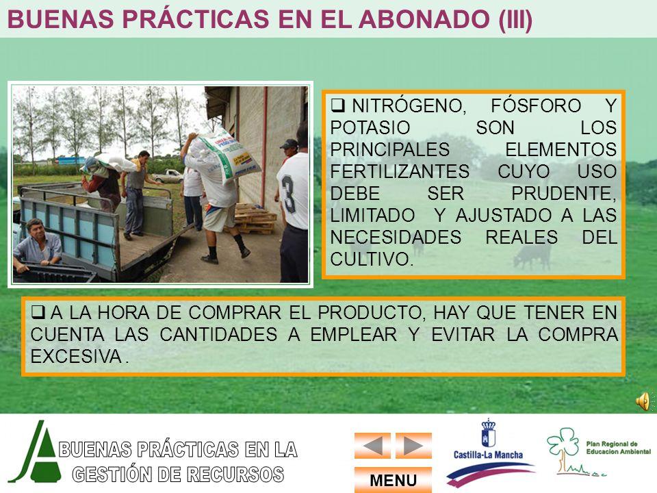 BUENAS PRÁCTICAS EN EL ABONADO (III)