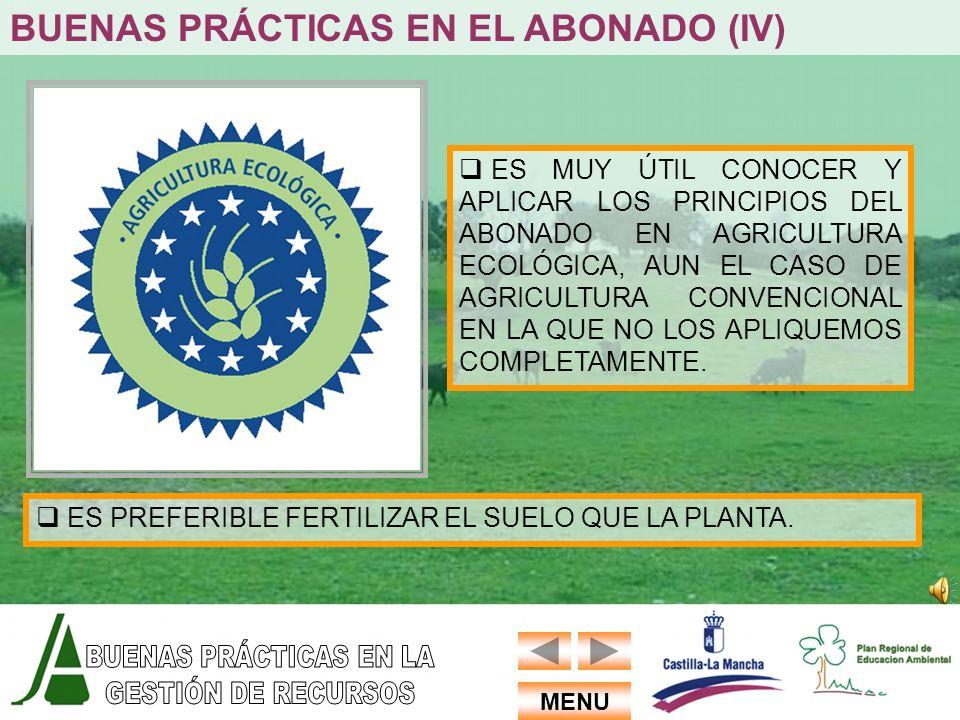 BUENAS PRÁCTICAS EN EL ABONADO (IV)
