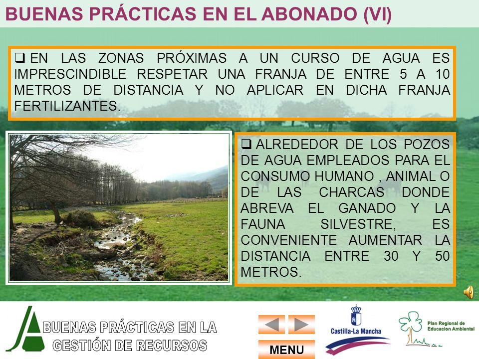 BUENAS PRÁCTICAS EN EL ABONADO (VI)