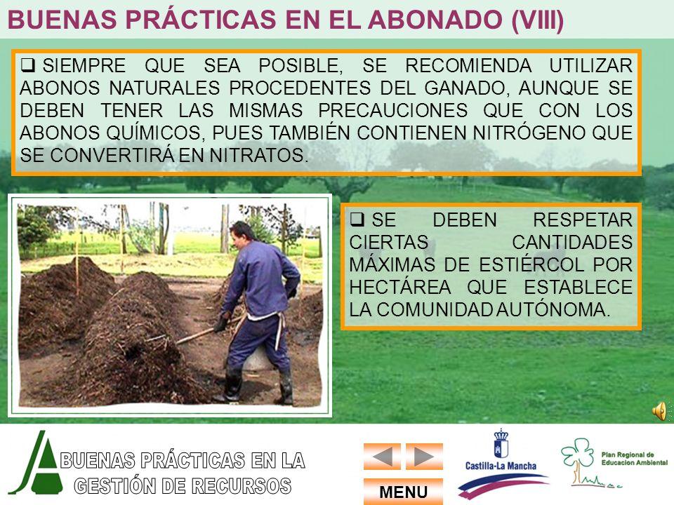 BUENAS PRÁCTICAS EN EL ABONADO (VIII)