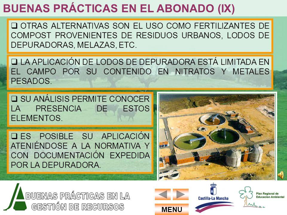 BUENAS PRÁCTICAS EN EL ABONADO (IX)