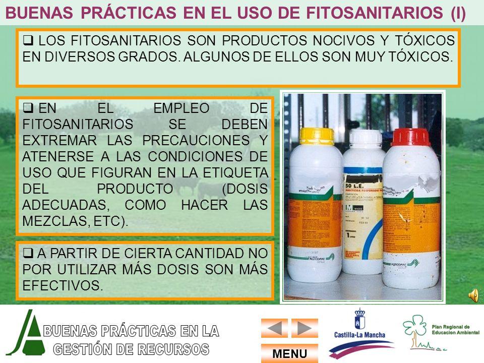 BUENAS PRÁCTICAS EN EL USO DE FITOSANITARIOS (I)