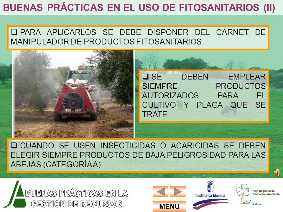 BUENAS PRÁCTICAS EN EL USO DE FITOSANITARIOS (II)