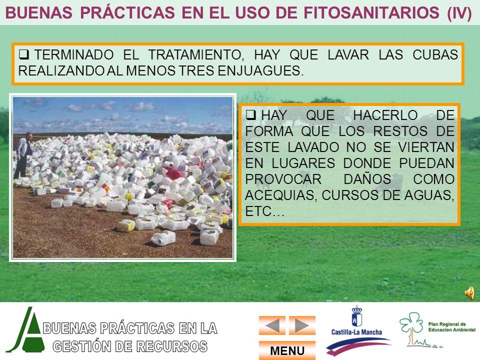 BUENAS PRÁCTICAS EN EL USO DE FITOSANITARIOS (IV)