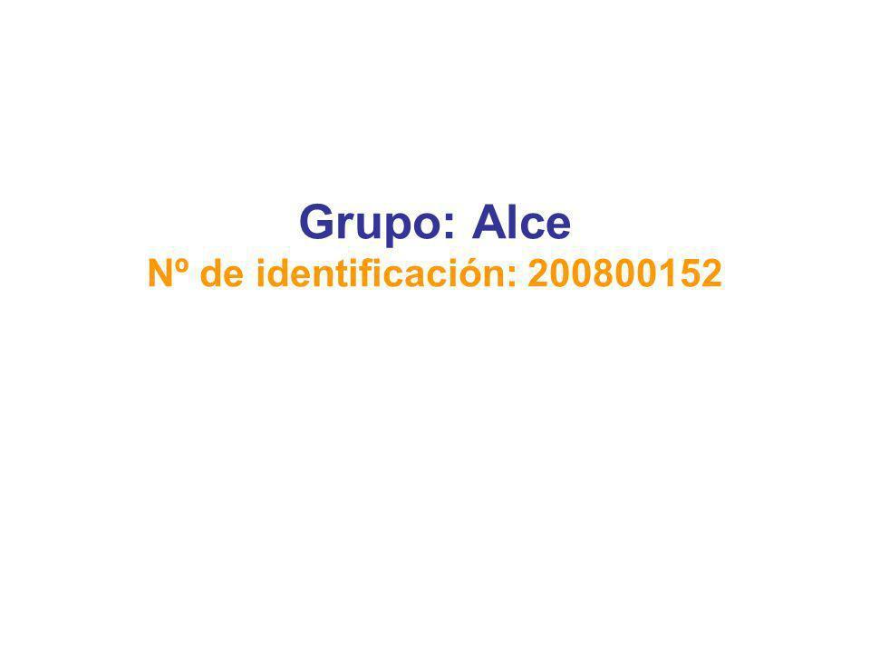 Grupo: Alce Nº de identificación: 200800152