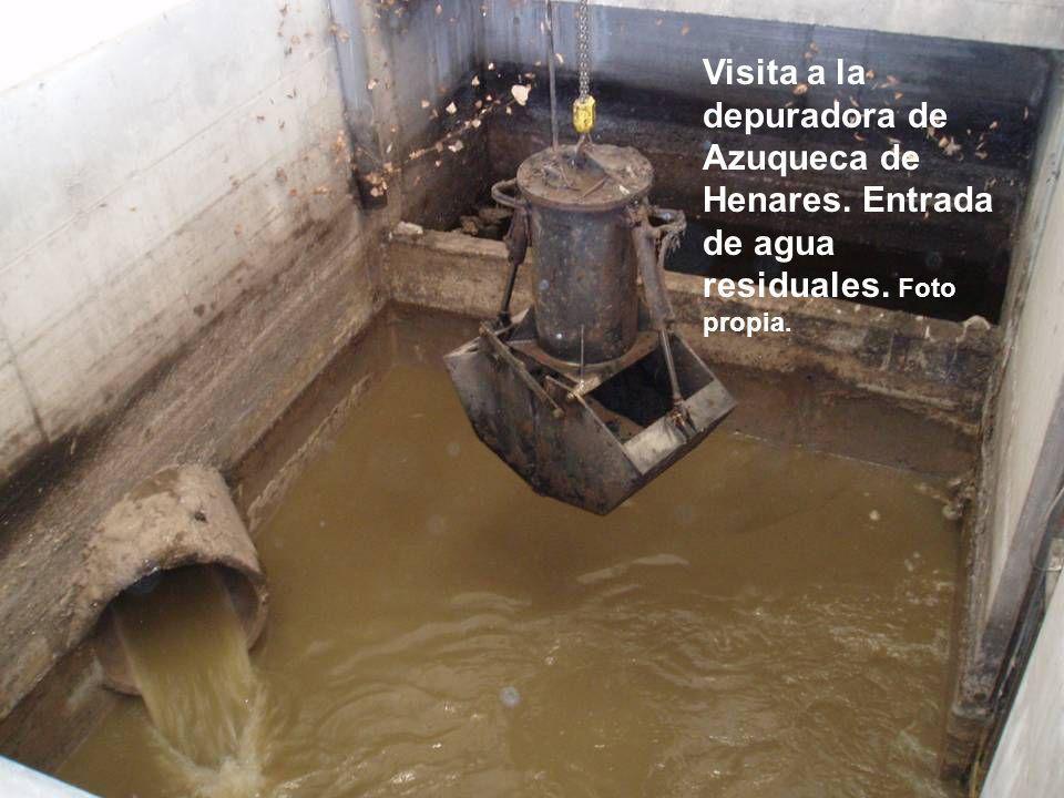 Visita a la depuradora de Azuqueca de Henares