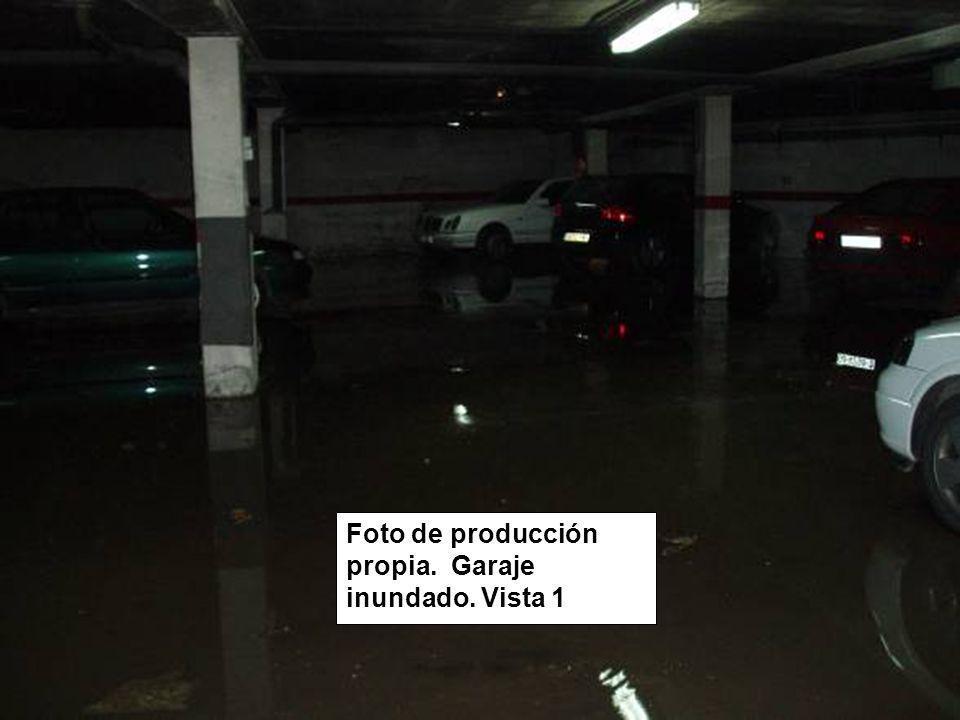 Foto de producción propia. Garaje inundado. Vista 1