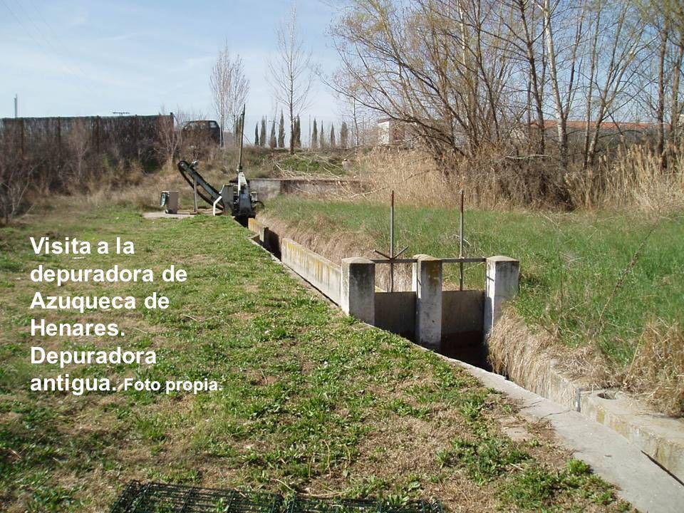 Visita a la depuradora de Azuqueca de Henares. Depuradora antigua