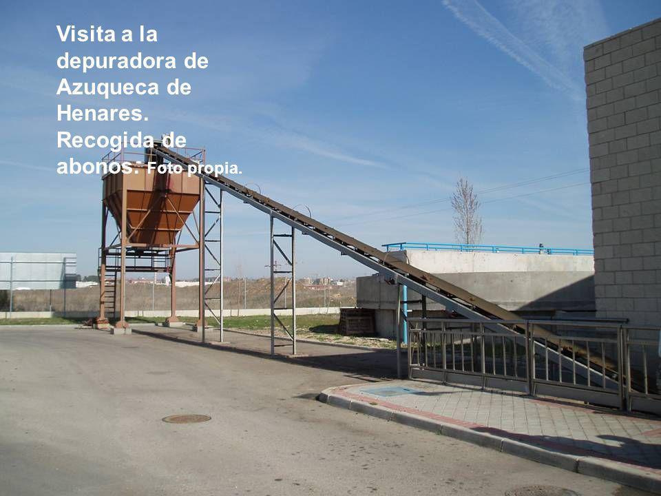 Visita a la depuradora de Azuqueca de Henares. Recogida de abonos