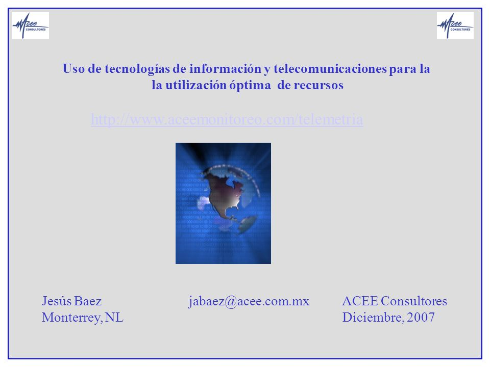 Uso de tecnologías de información y telecomunicaciones para la