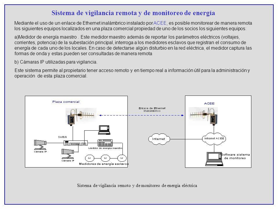 Sistema de vigilancia remota y de monitoreo de energía