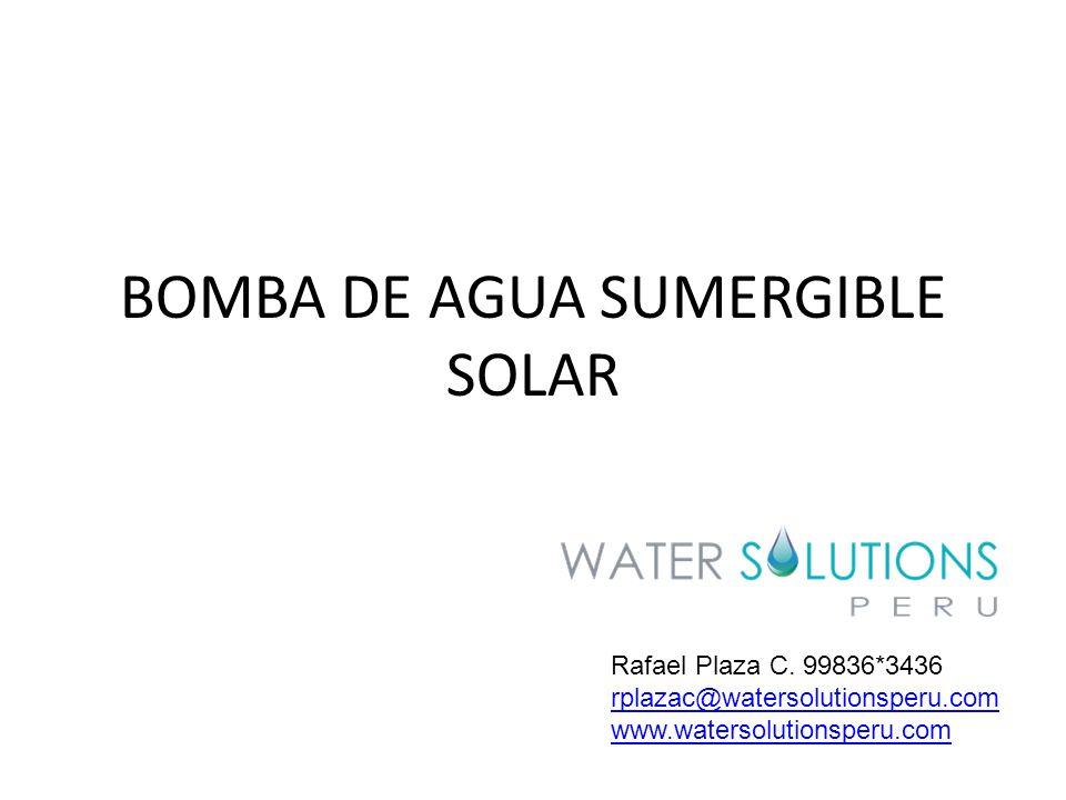 BOMBA DE AGUA SUMERGIBLE SOLAR