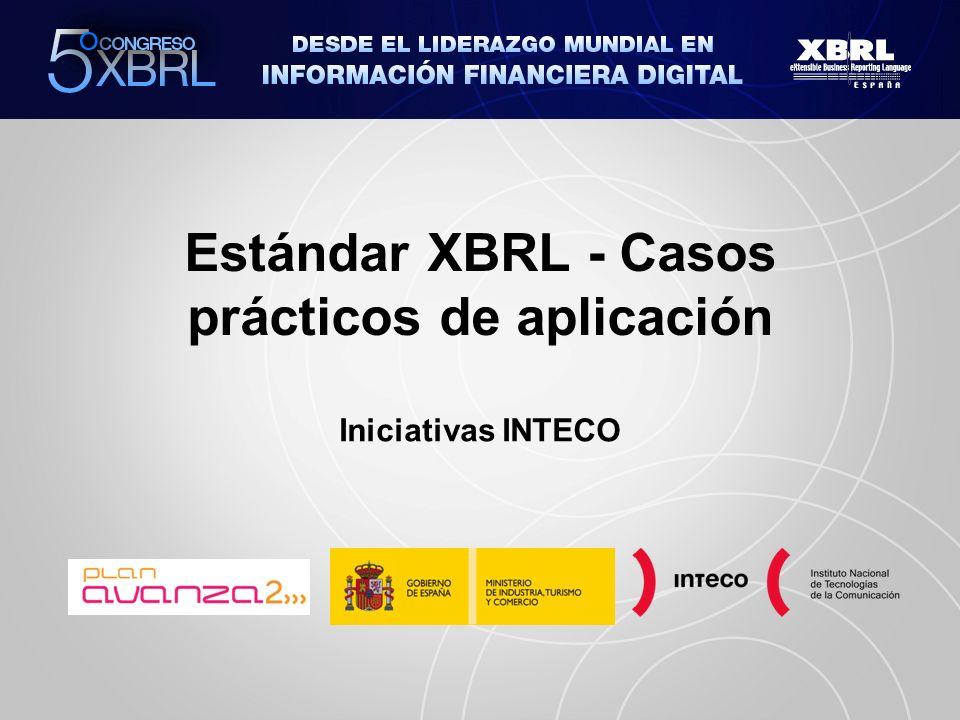 Estándar XBRL - Casos prácticos de aplicación