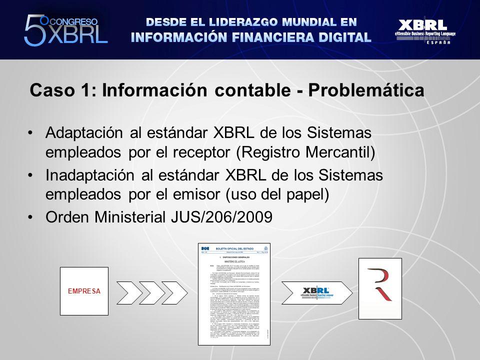 Caso 1: Información contable - Problemática