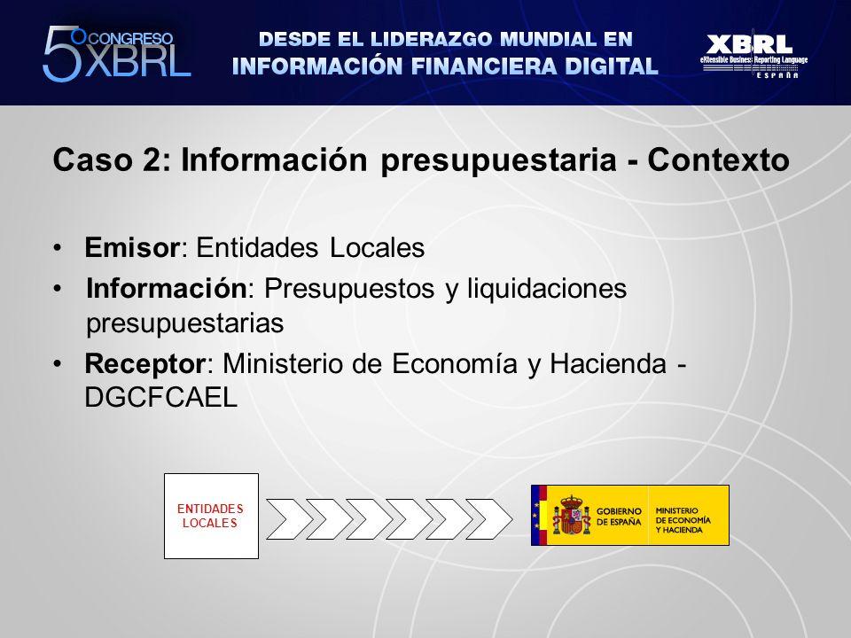 Caso 2: Información presupuestaria - Contexto