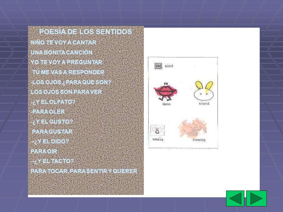 POESÍA DE LOS SENTIDOS NIÑO TE VOY A CANTAR UNA BONITA CANCIÓN