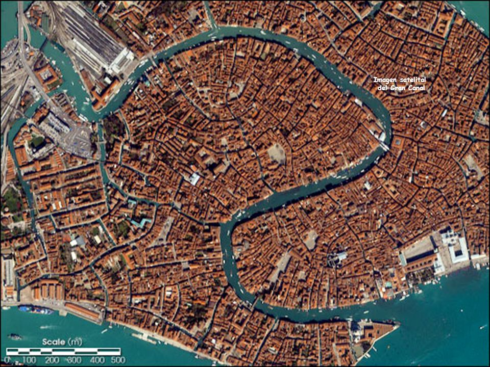 Imagen satelital del Gran Canal