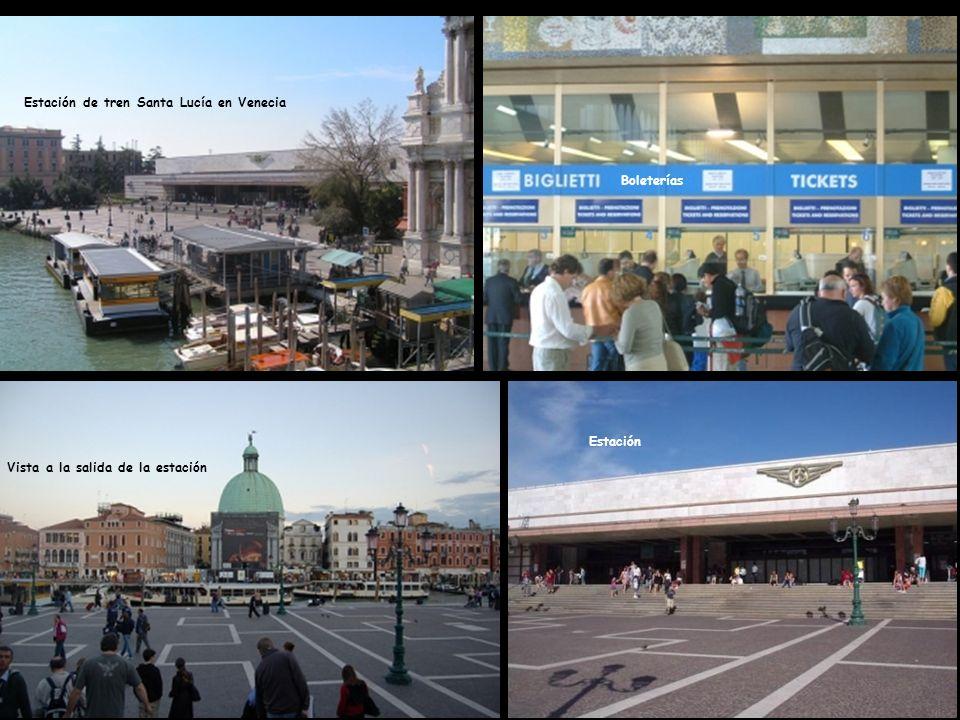 Estación de tren Santa Lucía en Venecia