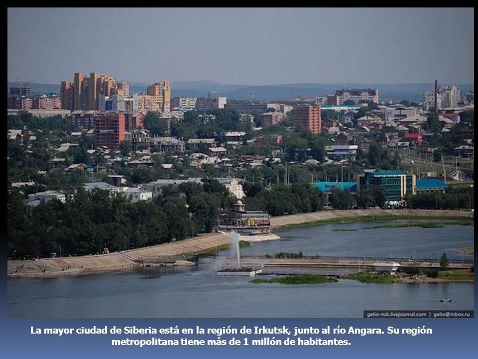 La mayor ciudad de Siberia está en la región de Irkutsk, junto al río Angara.