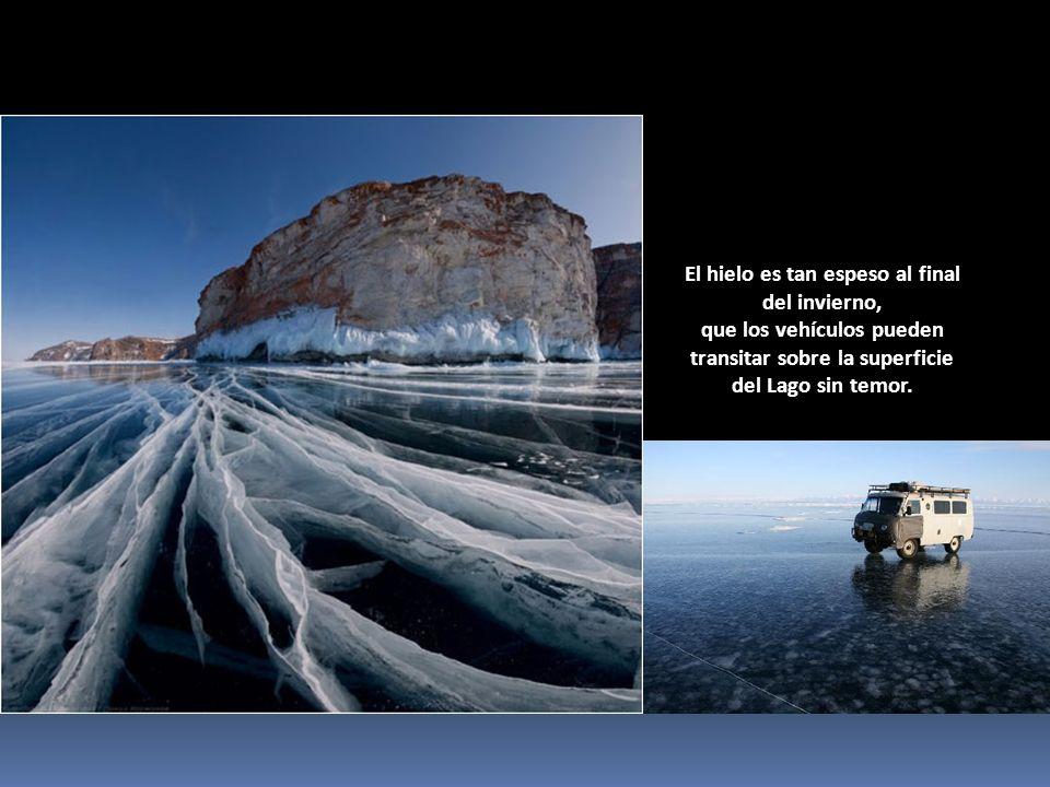 El hielo es tan espeso al final del invierno,