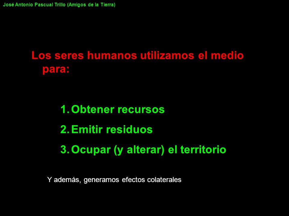 Los seres humanos utilizamos el medio para: