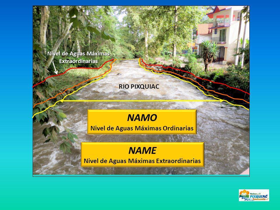 NAMO NAME RIO PIXQUIAC Nivel de Aguas Máximas Ordinarias