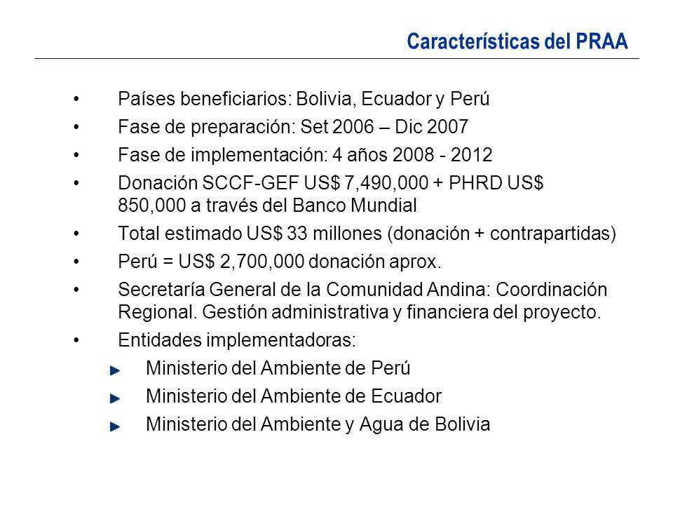 Características del PRAA