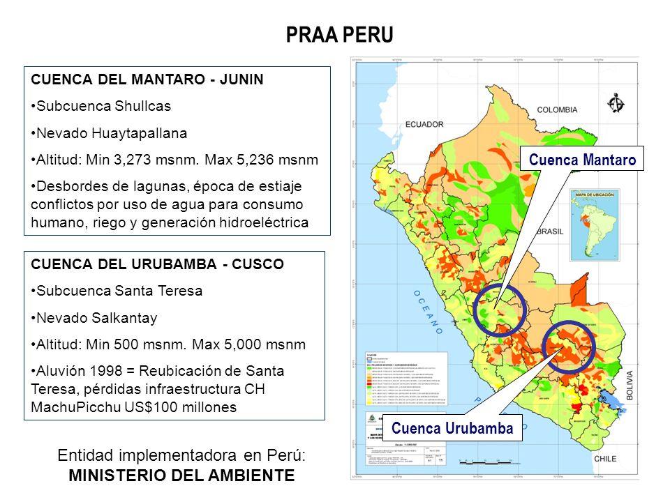 Entidad implementadora en Perú: MINISTERIO DEL AMBIENTE