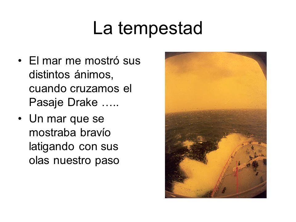 La tempestad El mar me mostró sus distintos ánimos, cuando cruzamos el Pasaje Drake …..