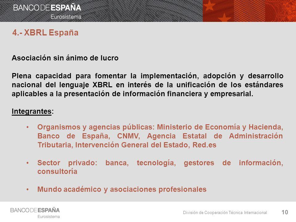 4.- XBRL España Asociación sin ánimo de lucro