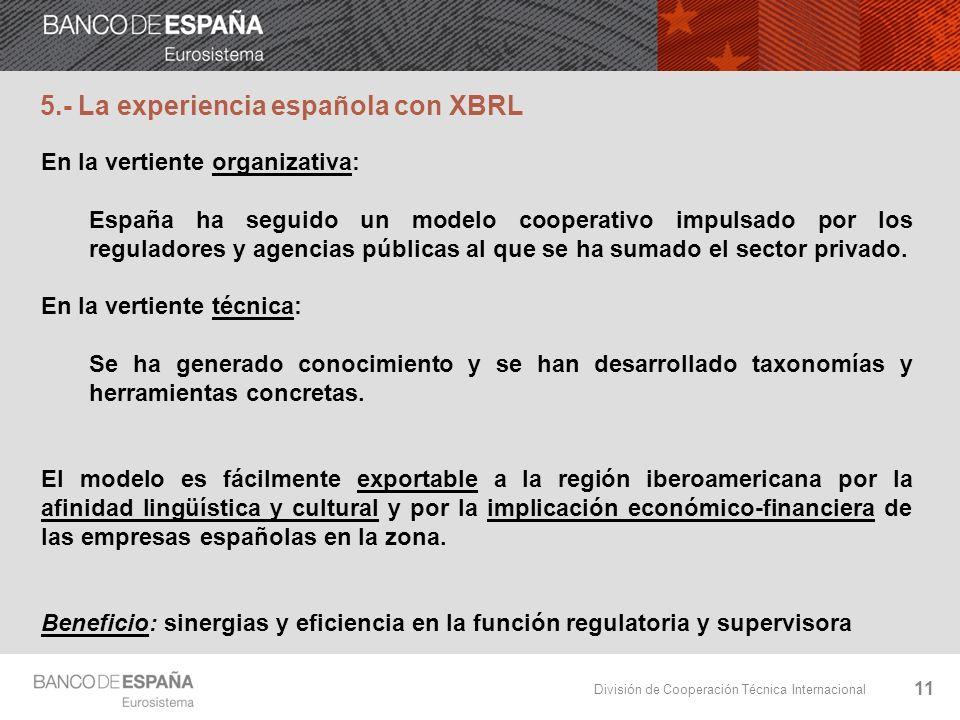 5.- La experiencia española con XBRL