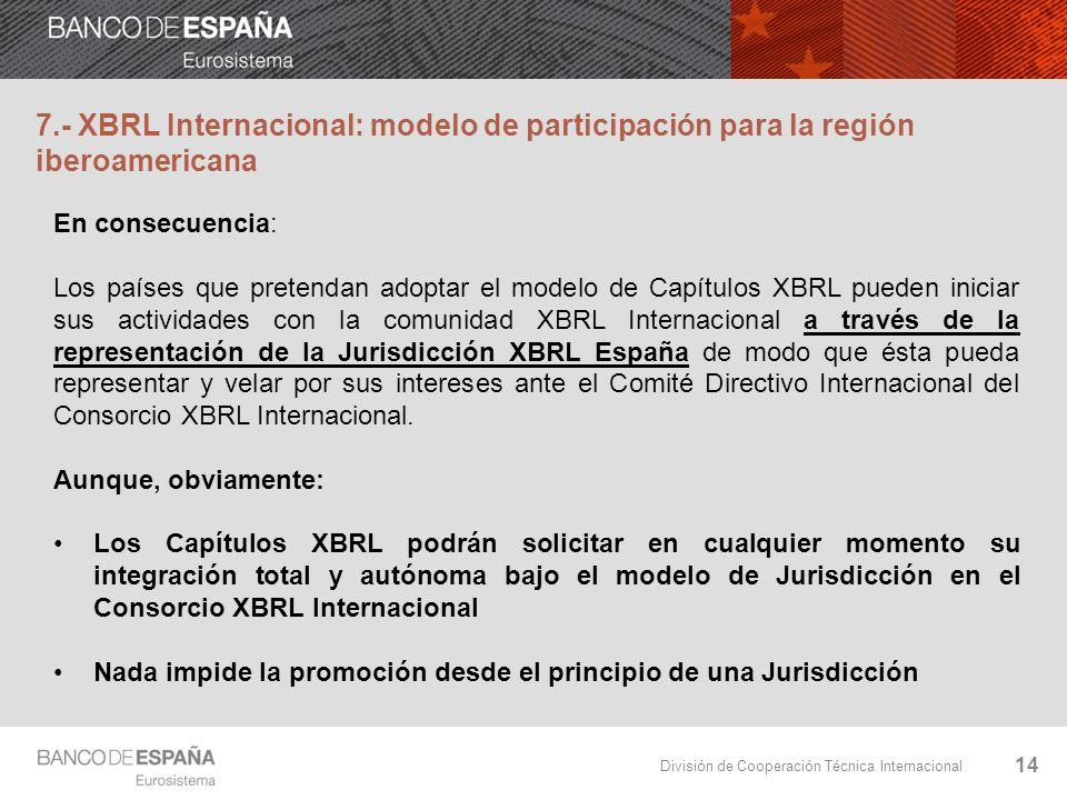 7.- XBRL Internacional: modelo de participación para la región iberoamericana