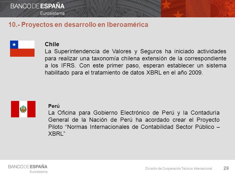 10.- Proyectos en desarrollo en Iberoamérica